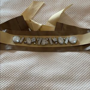 Accessories - Satin & Grosgrain belt with crystals
